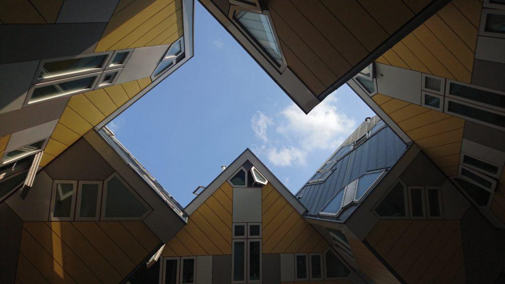casas cubo vistas desde dentro
