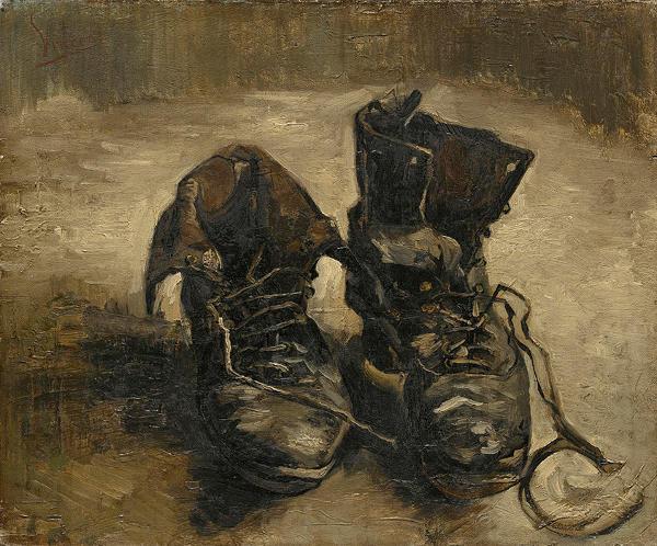 un par de zapatos van gogh