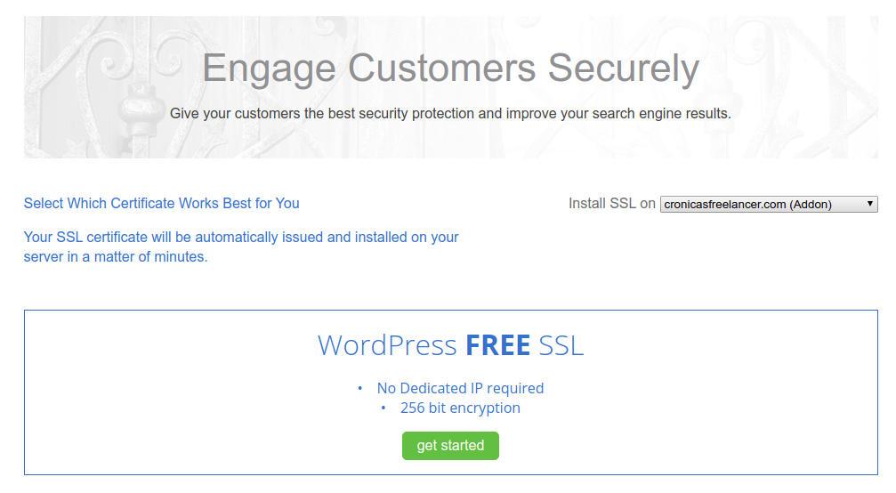 Instalar certificado SSL en Bluehost