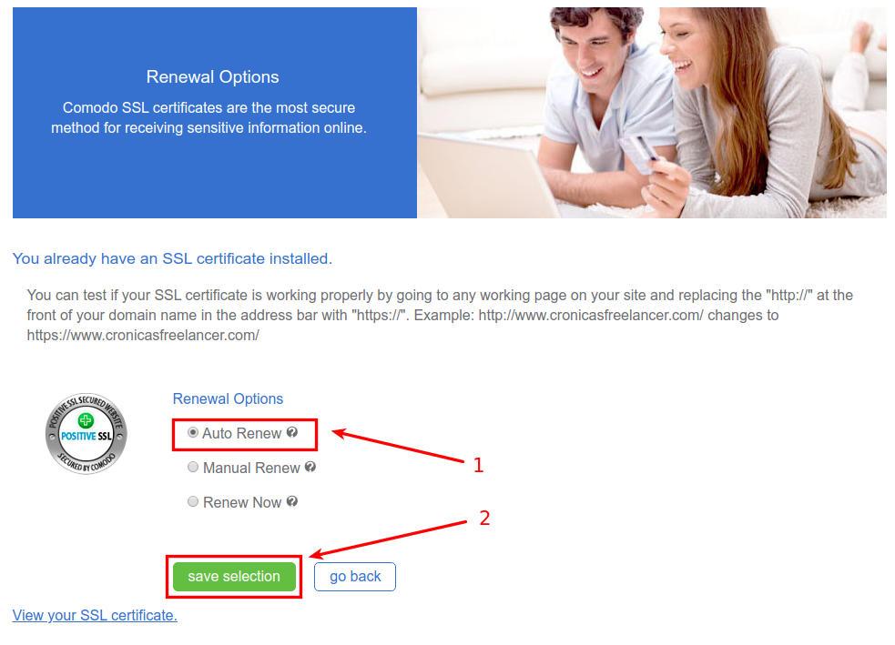 renovar certificado SSL